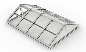 Architectural Structural – Gable End Ridge Skylight_ C, C – 4x2x2 (Glass)