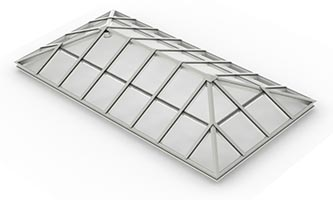 Architectural Structural – Hipped End Ridge Skylight_ C, C (4x2x4)