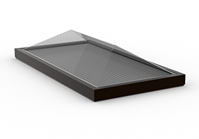 Curb Mount Formed Ridge Skylight_2x4, D, C_CMW (2448)