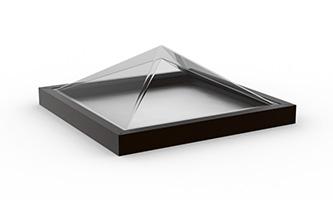 Curb Mount Pyramid Skylight_2x2, D, C_C (2424)