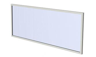 EcoWall Translucent Wall Systems_ C, C (Blue Acrylic)